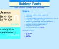 Uranus Font OpenType Screenshot 0