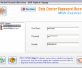MSN Explorer Password Restore Tool Screenshot 0