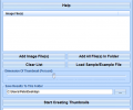 Create Thumbnails From Multiple Images Software Screenshot 0