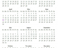 Free Printable Calendar Screenshot 0