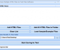 Save Multiple HTML Files As Text Files Software Screenshot 0