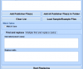 MS Publisher Find and Replace In Multiple Files Software Screenshot 0