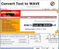 Aldo's Text-to-WAVE Screenshot 0