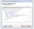 HTML To PHP Converter Screenshot 0