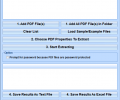 PDF Extract Document Properties Software Screenshot 0