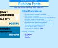 Hilbert Compressed Font TT Screenshot 0