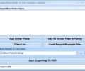 OpenOffice Writer To PDF Converter Software Screenshot 0