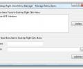 Desktop Right Click Menu Manager Screenshot 0