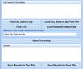 Convert Multiple Zip Codes To City, State or City, State To Zip Codes Software Screenshot 0