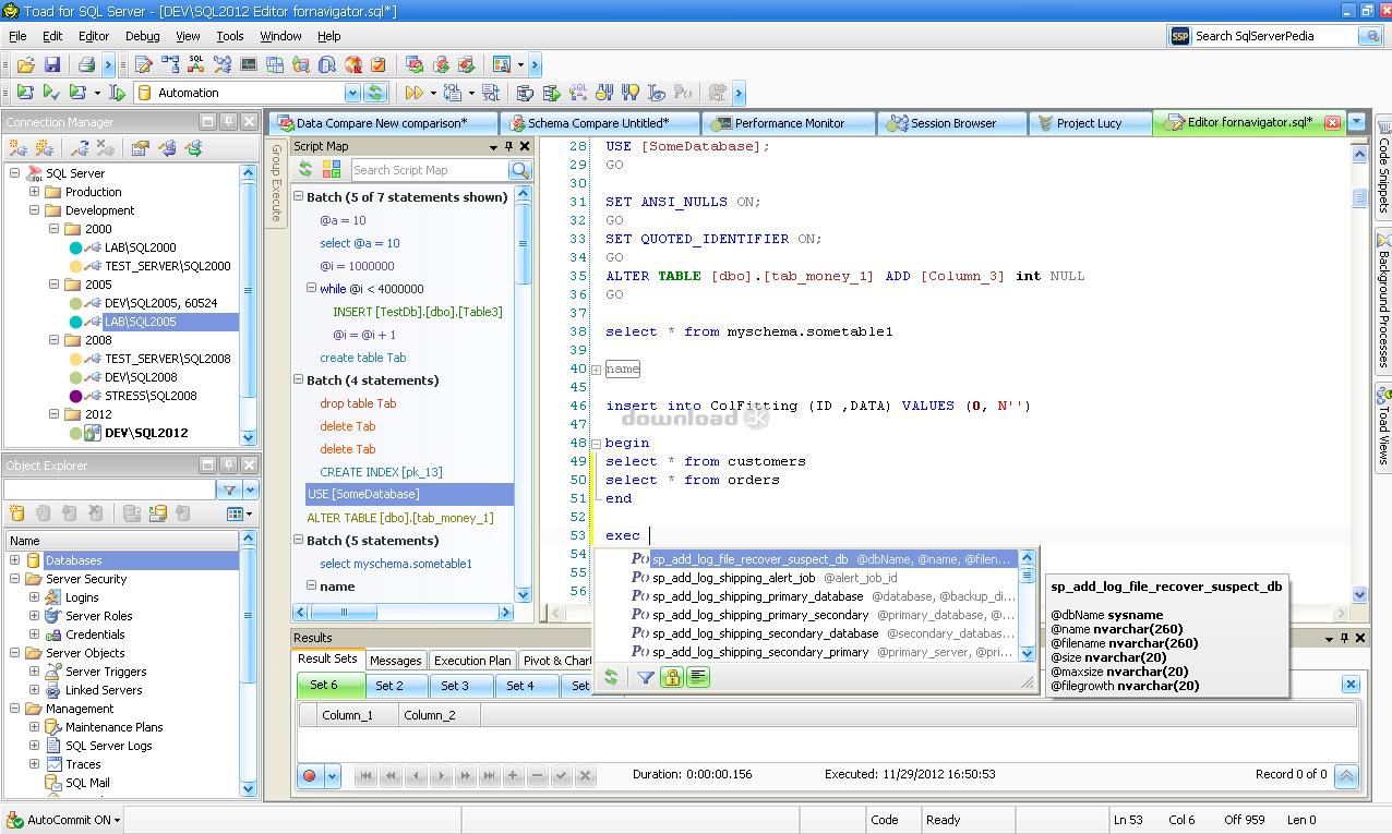 Download ToadforSQLServer_Freeware_6 1 0 1759 zip Free - Toad for