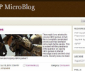 ApPHP MicroBlog Personal PHP Web Blog Screenshot 0