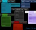 jQuery CSS Menu Style 06 Screenshot 0