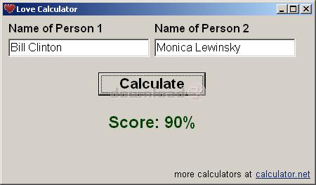 online matchmaking calculator