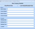 MS Word Wedding Invitation Template Software Screenshot 0