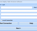 MS SQL Server Display Table Structure Software Screenshot 0