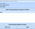 Outlook Delete Duplicate Contacts Software Screenshot 0