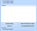 English To Spanish and Spanish To English Converter Software Screenshot 0