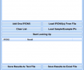 IP To DNS or DNS To IP Batch Converter Software Screenshot 0