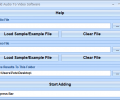 Add Audio To Video Software Screenshot 0