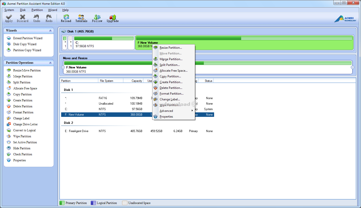 Download PAssist_Std.exe Free - AOMEI Partition Assistant