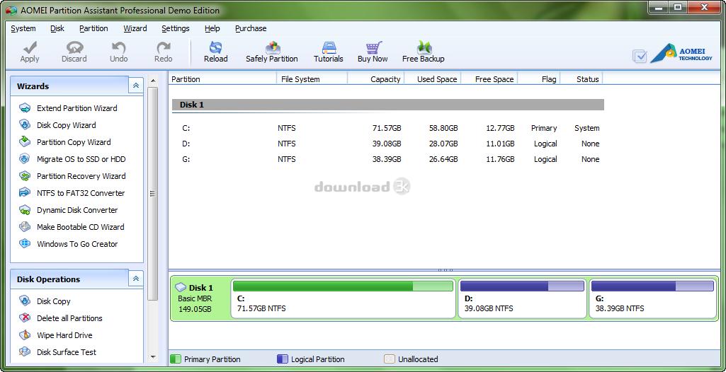 aomei partition assistant pro edition 6.3 key
