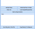 List The Contents Of Multiple Zip Files and Save As Text File Software Screenshot 0