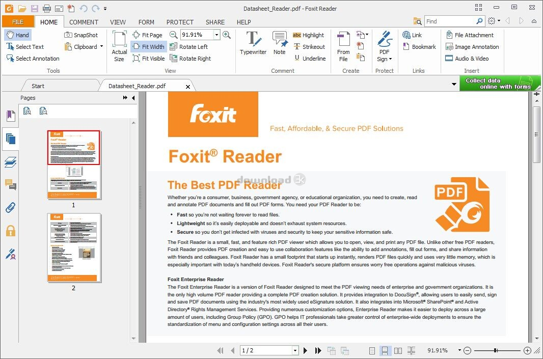 Download FoxitReader901_enu_Setup_Prom.exe Free - Foxit Reader 9.0.1.1049 install file