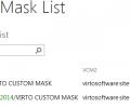 Custom Mask Web Part for SharePoint Screenshot 0