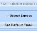 Change Default Email Client To MS Outlook or Outlook Express Software Screenshot 0