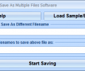 Open One File And Save As Multiple Files Software Screenshot 0