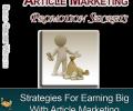 Article Marketing Promotion Secrets Screenshot 0