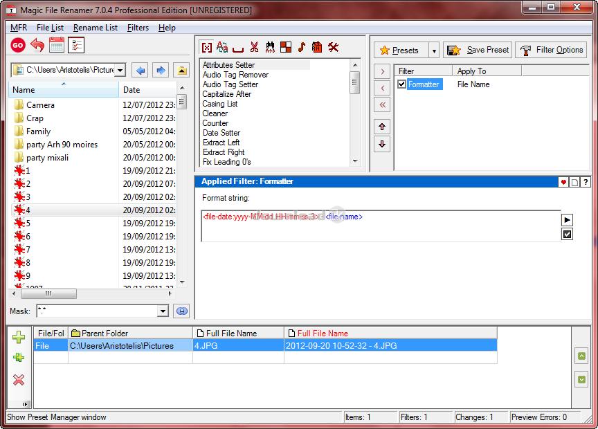 winsome file renamer 8.0 serial