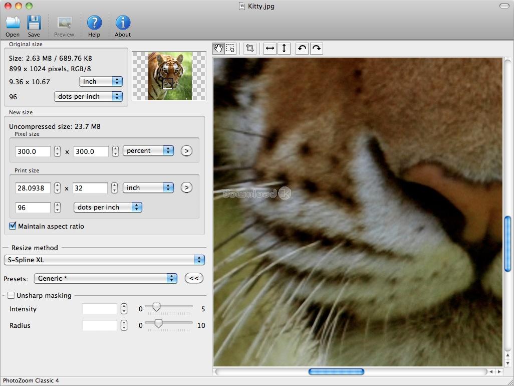 Попробовать как работает программа можно. скачав PhotoZoom Pro. с