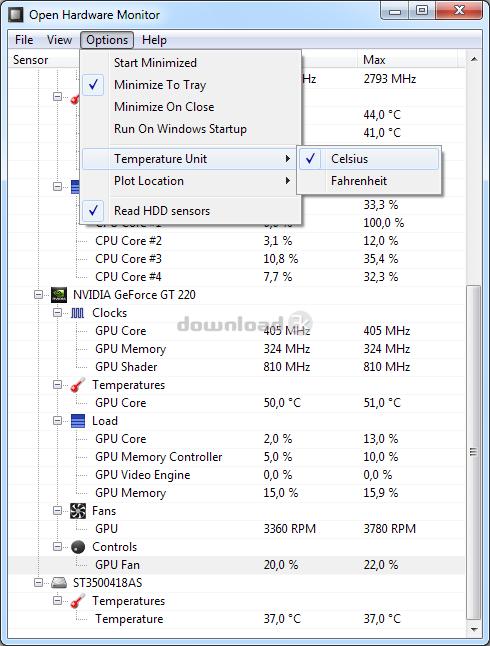 Open Hardware Monitor 0 8 0 Beta Review & Alternatives - Free
