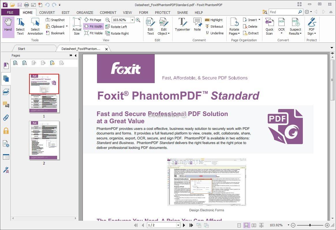 Foxit phantompdf standard 9. 0   software downloads   techworld.