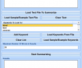 Summarize Large Amounts Of Text Software Screenshot 0
