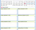 Weekly Calendar Schedule Software Screenshot 0