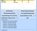 Birthday Reminder Software Screenshot 0