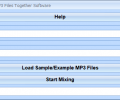 Mix Two MP3 Files Together Software Screenshot 0
