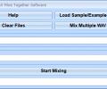Mix Two WAV Files Together Software Screenshot 0