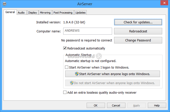 Download AirServer-5.4.9-x86.msi Free trial - AirServer 5.4.9 install file