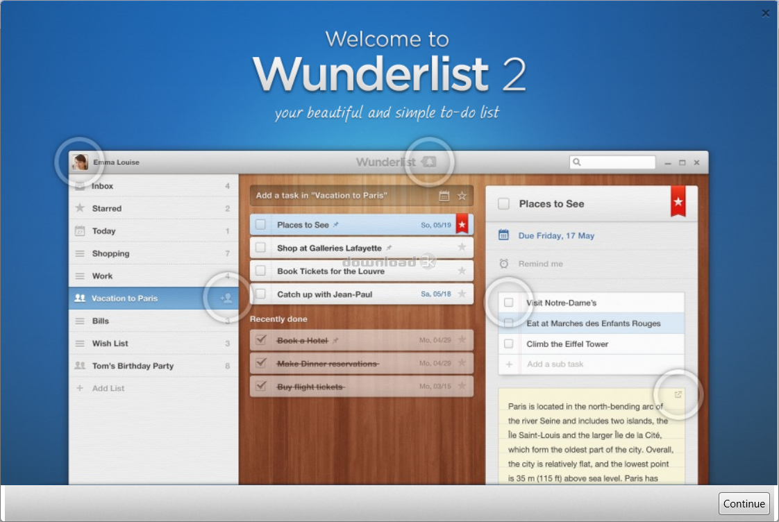 Wunderlist 3 19 7 Review & Alternatives - Free trial