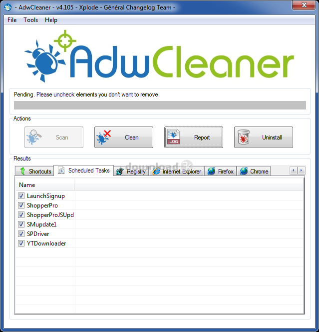 adwcleaner compatible xp