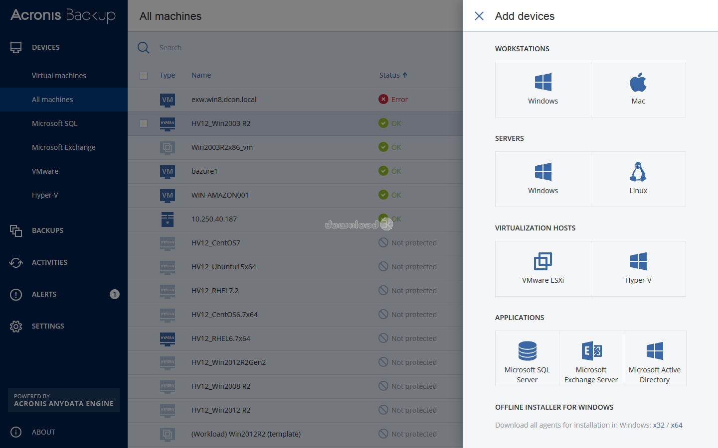 acronis 12.5 cleaner