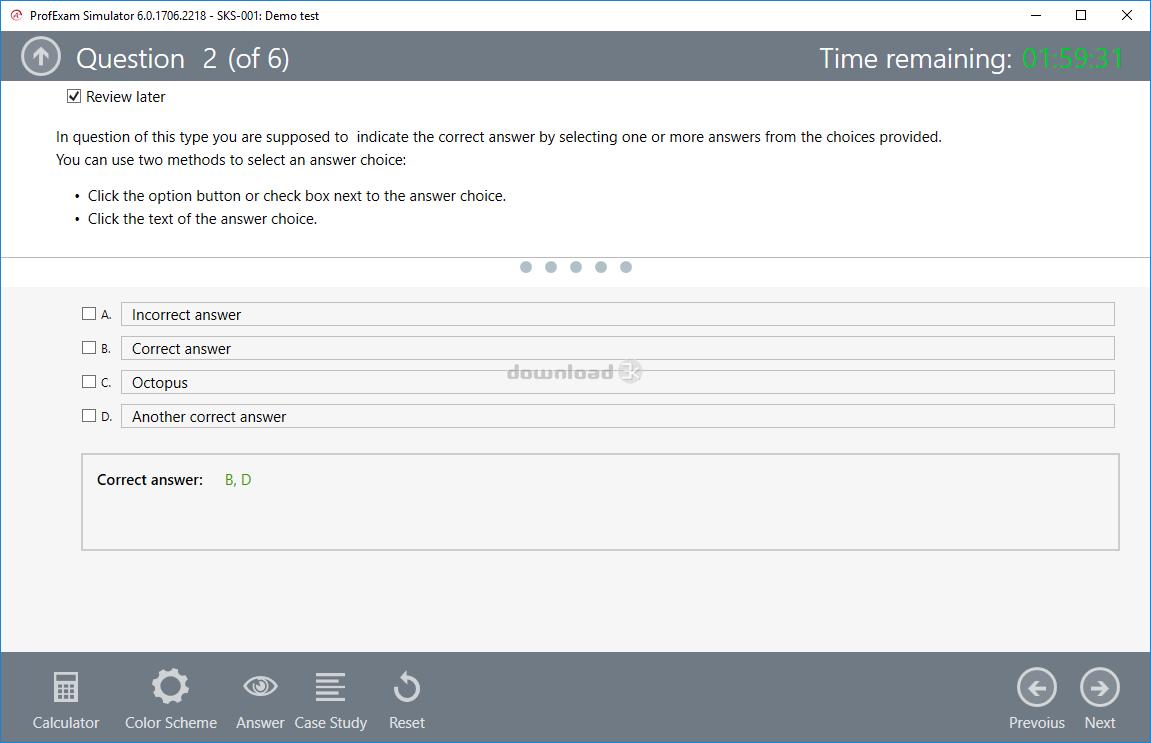 ProfExam Simulator 6 3 1802 2724 Quick review - Free trial