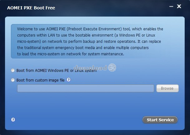 Download PXEBoot exe Free - AOMEI PXE Boot Free 1 5 install file