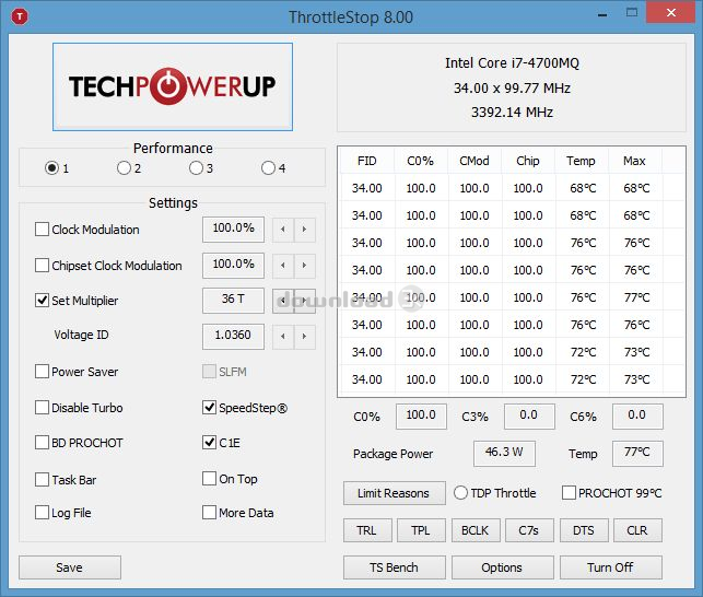 ThrottleStop 8 70 6 / 8 48 OBSIDIAN-PC Review & Alternatives - Free
