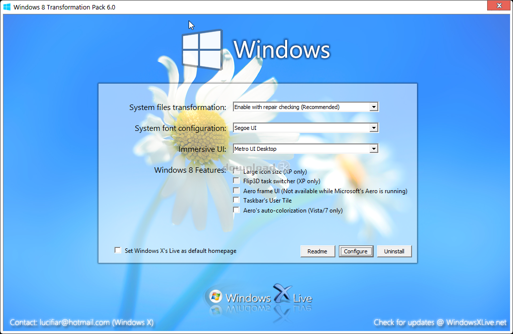 Descargar windows 8 transformation pack para xp, vista y 7.